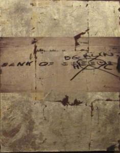 Graffito, Bank of Berlin, Mixed Media, 45 x 35 cm