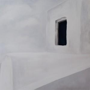 Island, Oil on canvas, 100 x 100 cm