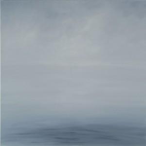 The sea, Oil on canvas, 100 x 100 cm