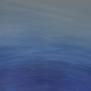 he sea, Oil on canvas 120 x 120 cm