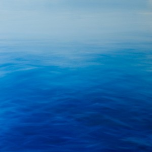 The sea, Oil on canvas, 100x100cm