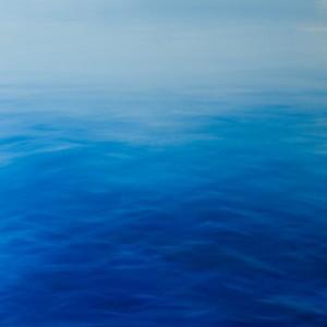 The sea, Oil on canvas, 100x100cm