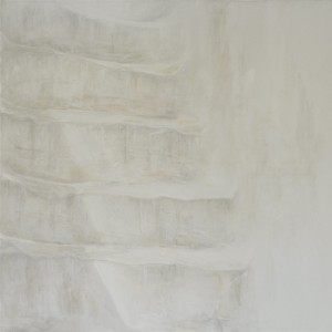 The staircaise, Oil on canvas, 100 x 100 cm