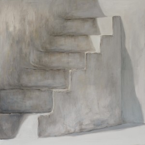 The staircase, Oil on canvas, 100 x 100 cm
