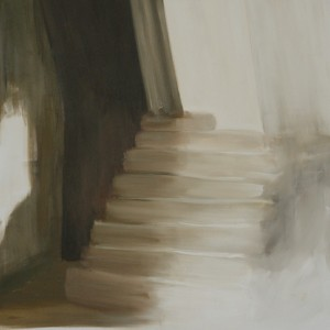 The staircase II, Oil on canvas, 100 x 100 cm